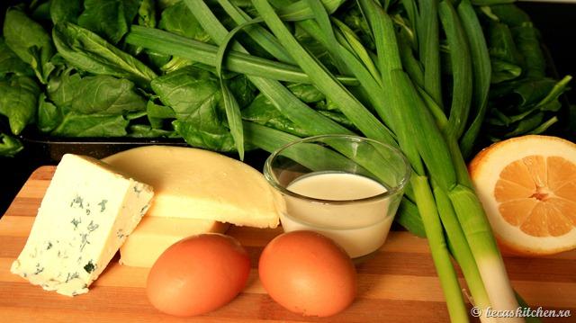 Tarta cu spanac - ingrediente umplutura