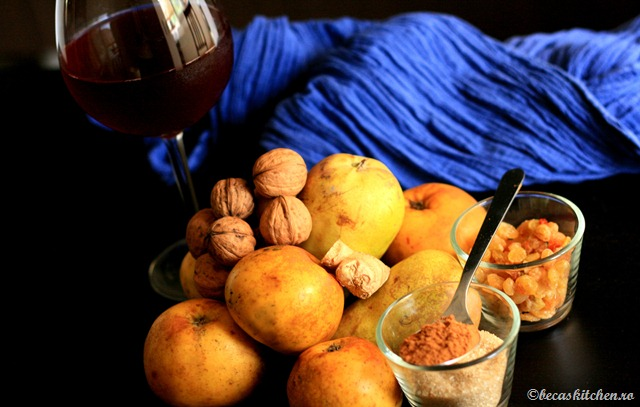 Ingrediente tarta cu mere pere si ghimbir